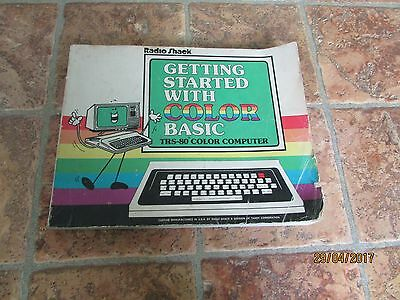 getting started with colour 1 trs-80 softback book by radioshack,very rare