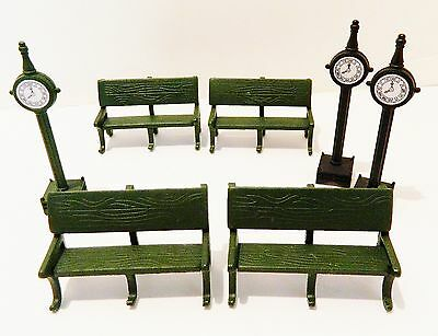 Dept.56 Heritage Village & Christmas In City  Accessory Park Benches & Clocks