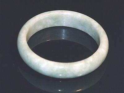 Rare Collection Asian Natural White/Light green Jadeite Jade Bracelet