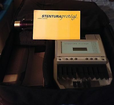 STENOGRAPH STUDENT PROTEGE COURT MACHINE and PAPER TRAY, TRIPOD, RIBBON, CHARGER