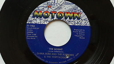 """DIANA ROSS / SUPREMES / TEMPTATIONS - The Weight 1969 R&B SOUL Motown 7"""""""