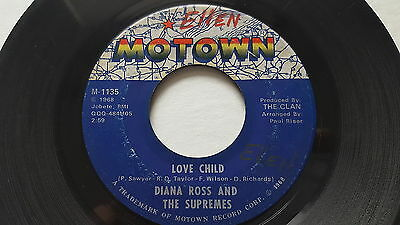 DIANA ROSS and THE SUPREMES - Love Child / Will This Be the Day 1968 MOTOWN SOUL