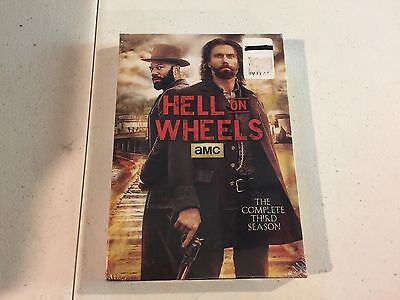 Hell on Wheels: The Complete Third Season (DVD, 2014, 3-Disc Set) Brand New