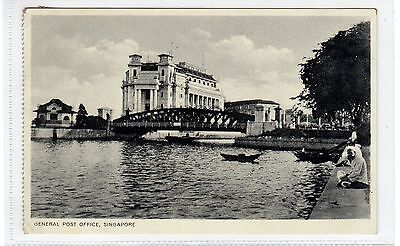 GENERAL POST OFFICE: Singapore postcard with RENGAM postmark (C28946)