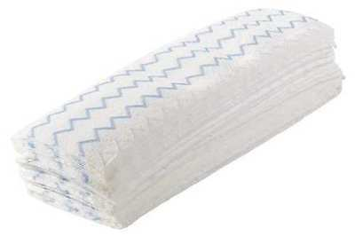 New!! Rubbermaid Disposable Mop Pad, Flat, Microfiber, 150Pk, 1822352