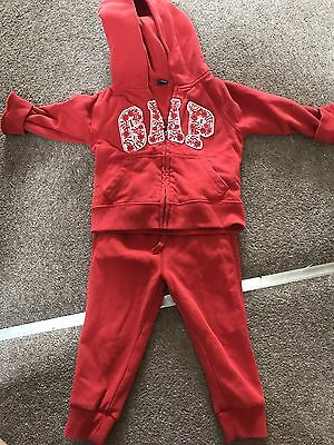 Gap toddler girls Red tracksuit age 2 years