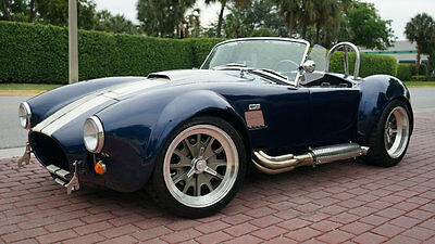 1965 Shelby COBRA 427 BACK DRAFT RACING ROUSH MOTOR 550 HP PERFECT  BUILD DATE 1/5/2016 INDIGO BLUE AND BLACK PERFECT VEHICLE 1-OWNER ONLY 2K MILES!