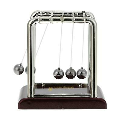 Newtons Cradle Fun Steel Balance Ball Physics Science Desk Toy Gift Accessory