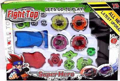 Fight Top Bayblade Top Set Spinning Metal Fusion 4D Launcher Toy Gift - GN Enter