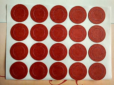 100 pcs Red Insulators Adhesive Paper for 1x  18650 Battery