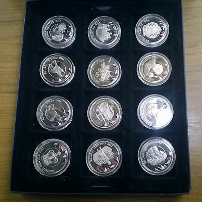 12 Falkland Islands Commemorative Golden Jubilee Coins Boxed Papers