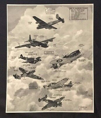 1941 Magazine WWII Page~ Great Britain Bomber Fighter Coastal Command Airplanes