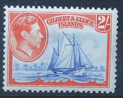 Gilbert & Ellice Islands 1939 Two Shillings 2/-   Sg52  Light Mint  See Photos