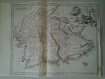 Carta Geografica dell'Istria Salmon acquaforte metà '700
