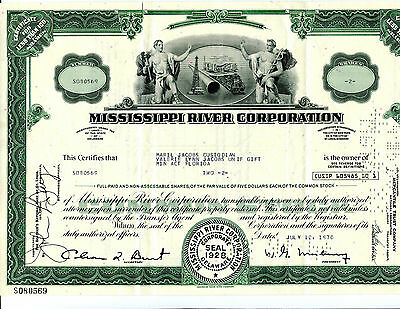 2 Share Mississippi River Corporation Stock Certificate