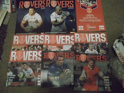 Hull Kingston Rovers Rugby League Programme Collection Homes 2012 - 2015 Season