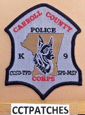 Carroll County, Maryland Police K-9 Corps Shoulder Patch Md