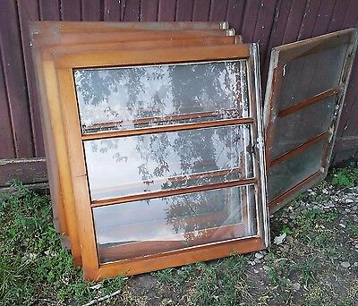 Antique 3 Pane, Solid And Privacy Farm House Wooden Windows