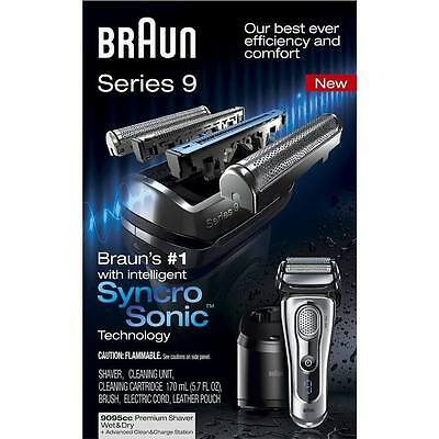 Braun Series 9 - 9095cc shaver Wet & Dry with Clean & Charge Station NEW