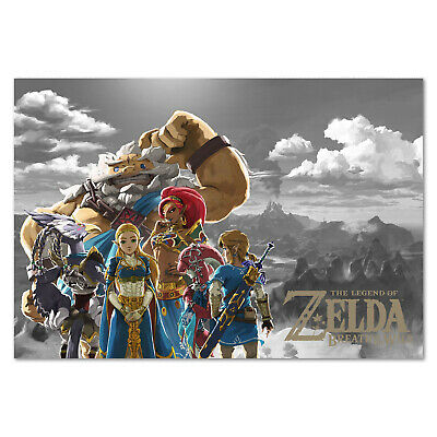 The Legend of Zelda: Breath of the Wild Poster - Custom Art High Quality Prints