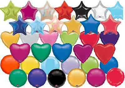 Solid Colour Helium Foil Balloons Heart Round Star Shape Wedding Birthday Party