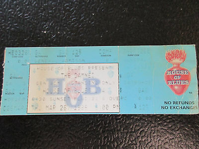 Damned 1998 House of Blues Comp ticket stub