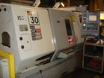 "Used Haas SL-30T CNC Turning Center Lathe Tailstock Servo 300 Barfeeder 3"" 2003"