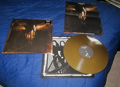 FORGOTTEN TOMB under saturn retrograde LP first press gold vinyl rare xasthur
