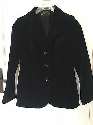 Vintage 1970s Ladies Black Velvet Jacket St Michael Size 12