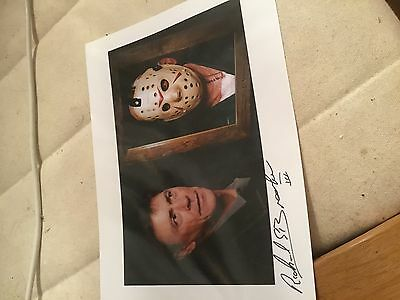 friday the 13th Jason voorhees signed glossy 10x8 photograph
