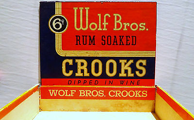 Wolf Bros. Rum Soaked CROOKS Dipped In Wine Cigar Box with Stamp