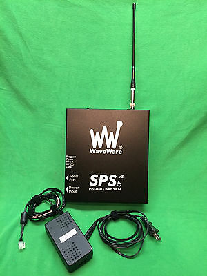 WaveWare SPS5 V8 Paging System Control Unit and power supply.