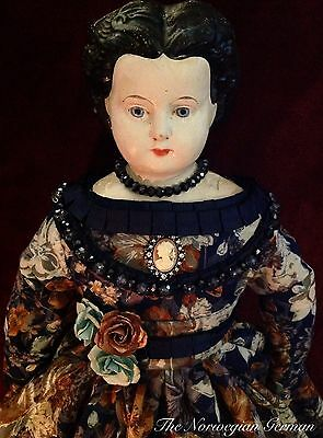 Gorgeous Antique Lugwig Greiner Papier Maché Doll ~ 20""