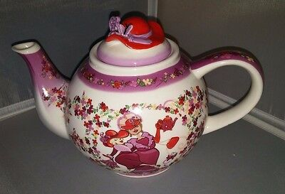 RED HAT SOCIETY Teapot Cardew Design 2004 Large Tea Pot & Red Hat Lid MINT