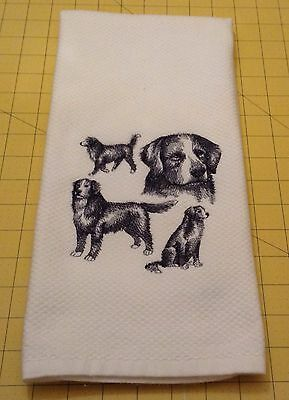 BERNESE MOUNTAIN DOG COLLAGE SKETCH Embroidered Kitchen Hand Towel 100% cotton