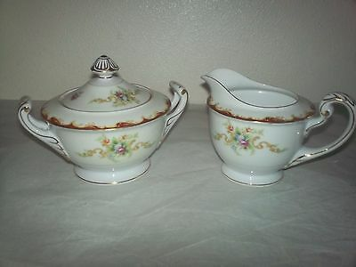 Harmony House Fine China Creamer & Sugar Bowl w/Lid Wembley 1954-1960