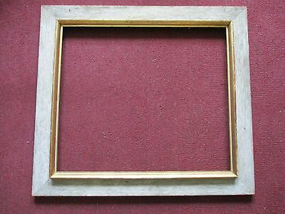 Large Antique Vintage Rustic Wood Picture Painting Frame With Offset
