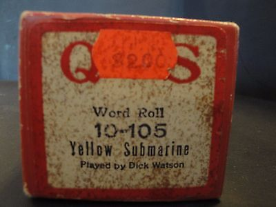 QRS Piano Roll 10-105 Yellow Submarine Played by Dick Watson