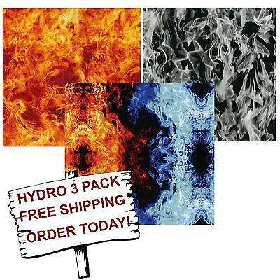 Hydro Dip Hydrographic Film Water Transfer Printing Film Flame #2 3 Pack