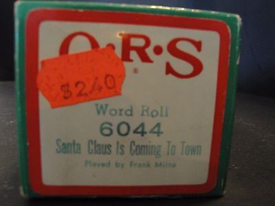 QRS 6044 Santa Claus Is Coming to Town by Frank Milne Holiday Rolls