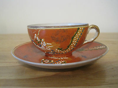 Hand Painted Jb Betson's China Demitasse Cup & Saucer. Dragon Design