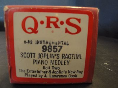 QRS 9857 Scott Joplin's Ragtime Piano Medley Roll Two by J Lawrence Cook