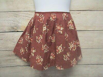 BONPOINT Girl's Skirt Brown Floral Flair Size 3