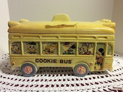 Walt Disney Productions Cookie Jar School  Bus 1961 Dan Brechner