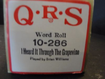 QRS Piano Roll I Heard It Through The Grapevine by Brian Williams