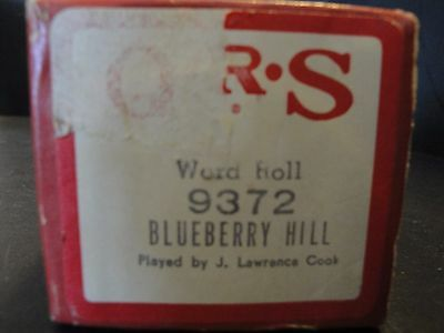 QRS 9372 Piano Roll Blueberry Hill by J. Lawrence Cook