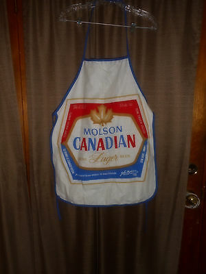Vintage Molson Canadian Beer/biere Promotional Advertising Apron