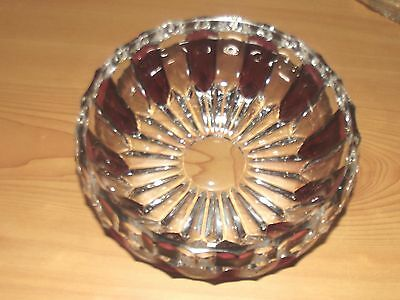 Retro Purple and Clear Crystal Glass Vintage Sweets Trinket Dish