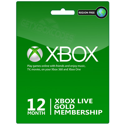 12 Month Xbox Live Gold Prepaid Subscription INSTANT EMAIL DELIVERY
