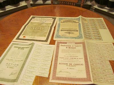 4 World   Bonds /   Stock Certificates; All Different;lot # A